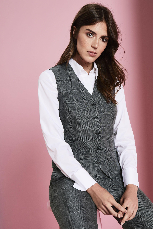 02c65a6490da Simon Jersey Women's Alderley Waistcoat - Grey Check   waistcoat in ...