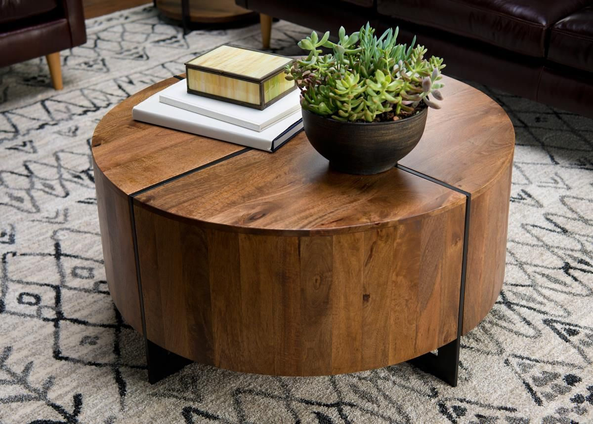 Desmond Round Coffee Table Round Coffee Table Coffee Table Round Wood Coffee Table [ 859 x 1200 Pixel ]