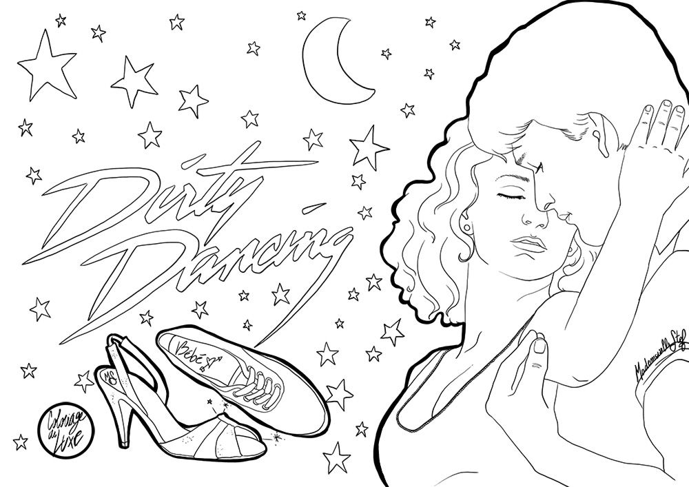 Coloriage : Dirty Dancing | Coloring Pages | Pinterest | Dirty ...