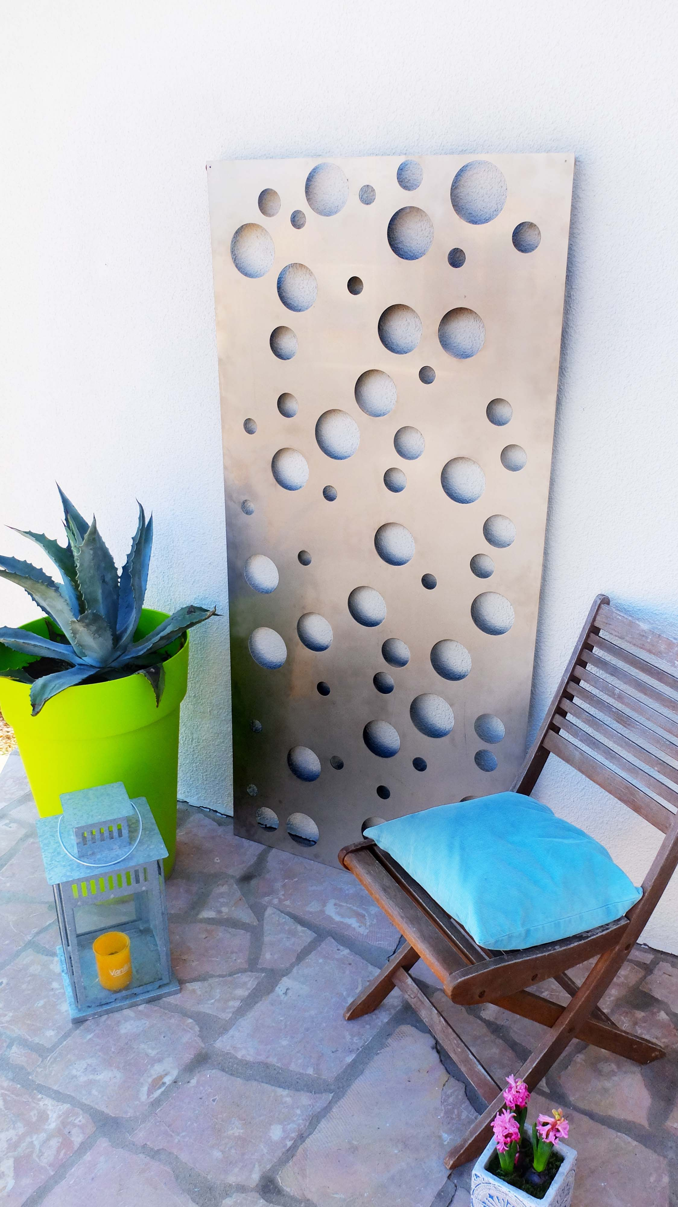 Panneau d coratif ext rieur en m tal aluminium un - Objets decoration jardin exterieur ...