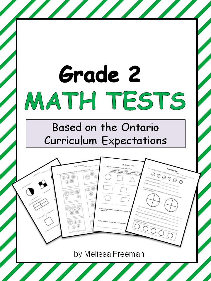 Grade 2 Math Tests Bundle (Ontario Curriculum) | Math test, Ontario ...