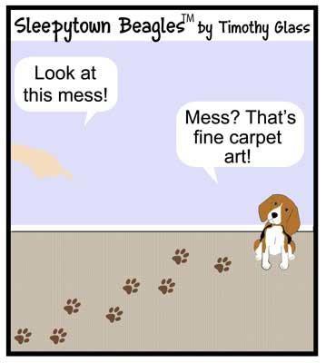 Sleepytown Beagle Cartoon