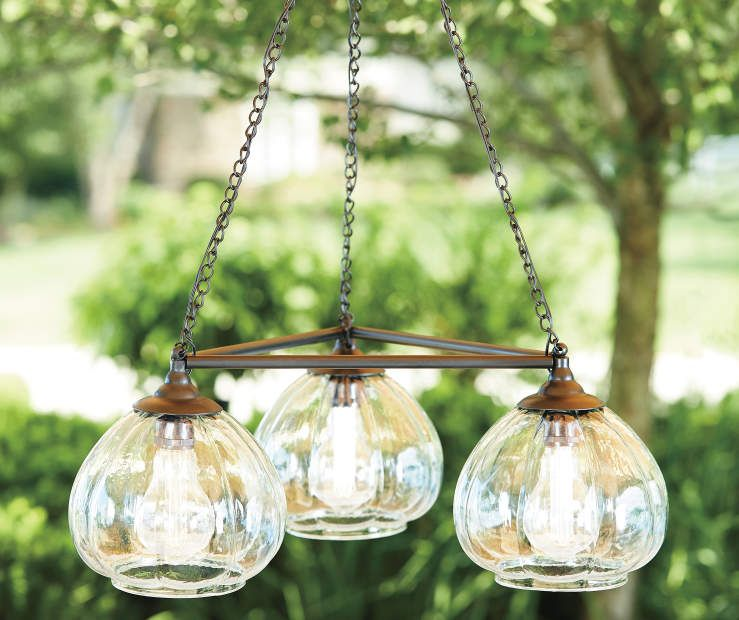 Wilson Fisher Edison Bulb Trio Battery Operated Chandelier With