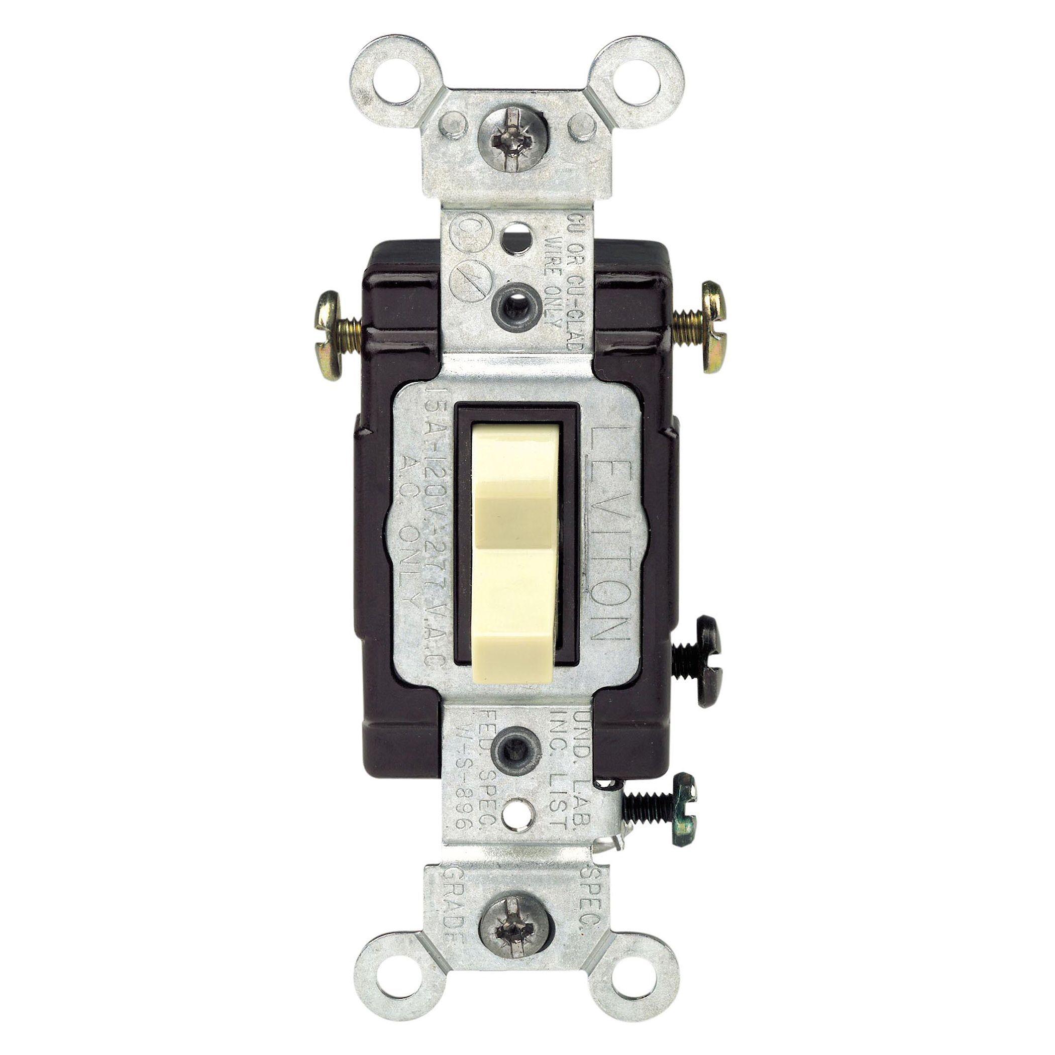 Leviton 120 Volt Ivory Illuminated 3 Way Light Switch (Other ...
