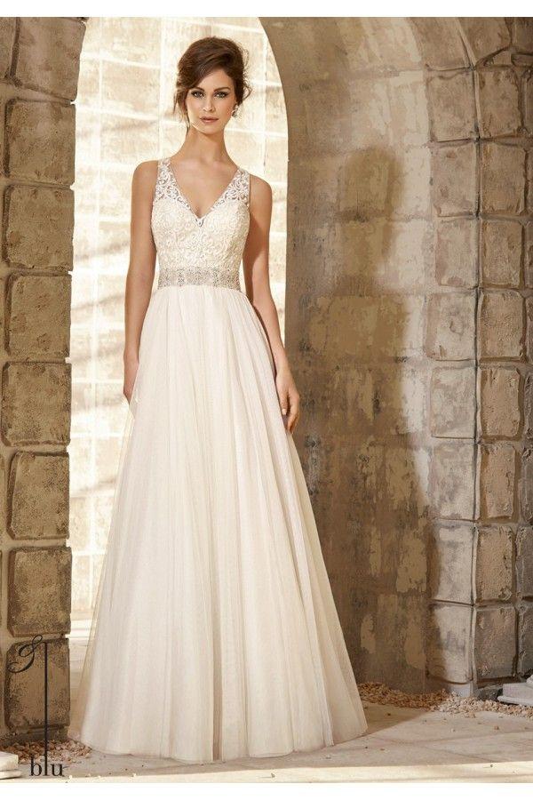 Vestidos de novia sencillos para primavera verano combinaciòn de ...