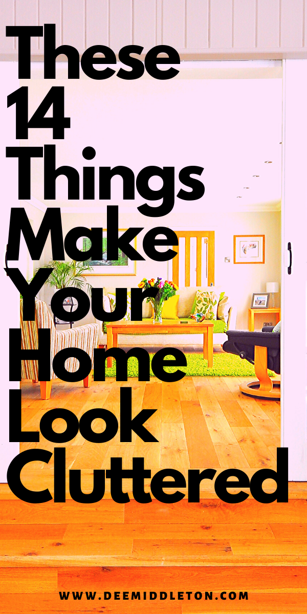 Discover what causes the look of clutter. Read about 14 things that make your home look cluttered. Declutter and organize your home using these decluttering tips. Minimize your belongings to create a clean house that looks organized and spacious. Find more cleaning hacks, organization ideas, and decluttering tips on this website.