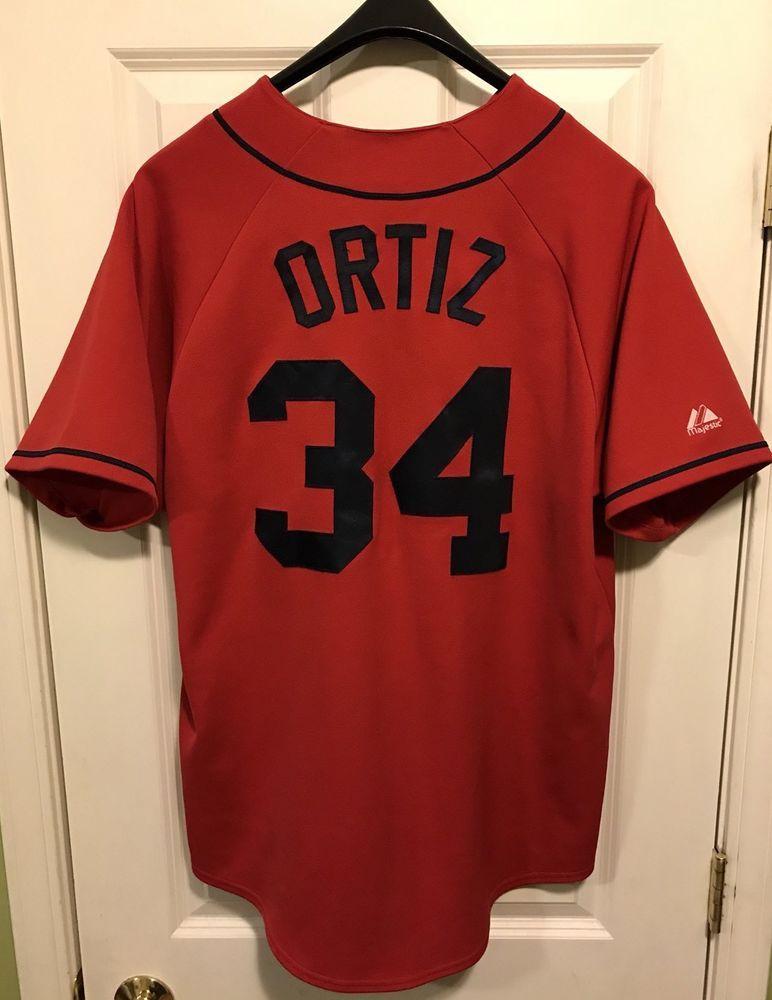 Boston Red Sox David Ortiz Majestic Stitched MLB Baseball Jersey Mens XL  Papi (eBay Link) 834d0568926