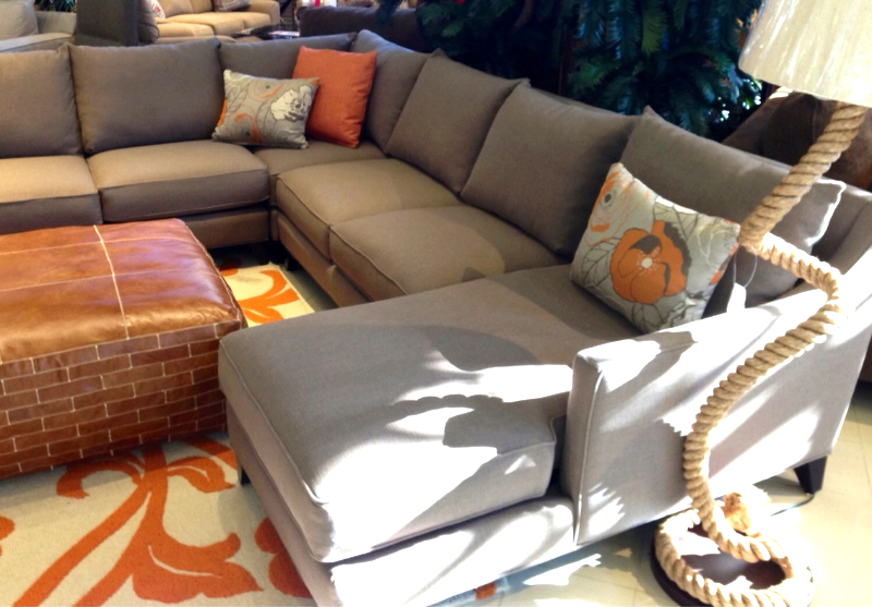 You Can Change The Decor Seasonally With A Versatile Sectional Like The  Grey One From Jonathan Louis.