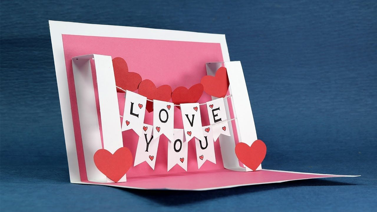 How To Make I Love You Pop Up Valentine Card Express Your Feelings On Valentine 39 S Day With Pop Up Valentine Cards Diy Pop Up Cards Pop Up Card Templates