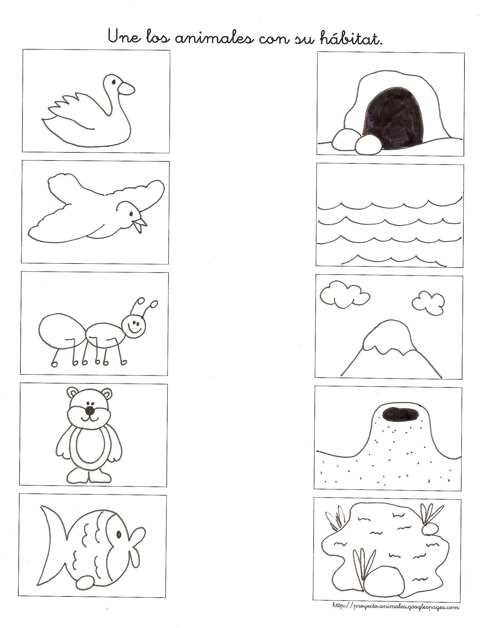 los animales y su habitat para niños - Buscar con Google | Educación ...