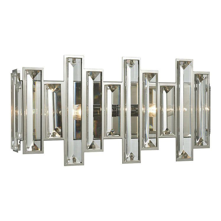 Crystal Heights Two Light Bathroom Vanity Fixture Vanity Light Bar Elk Lighting Vanity Lighting