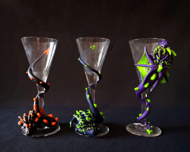 Personalised Dragon Glass Dragon Miniature Polymer Clay Dragon Polymer Clay Dragon Clay Dragon Dragon Glass