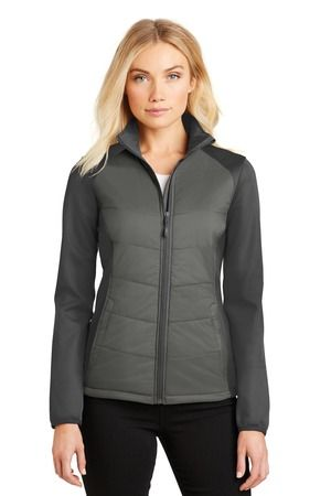 Port Authority®  L787 - Ladies Hybrid Soft Shell Jacket #portauthrority #softshell #womensouterwear
