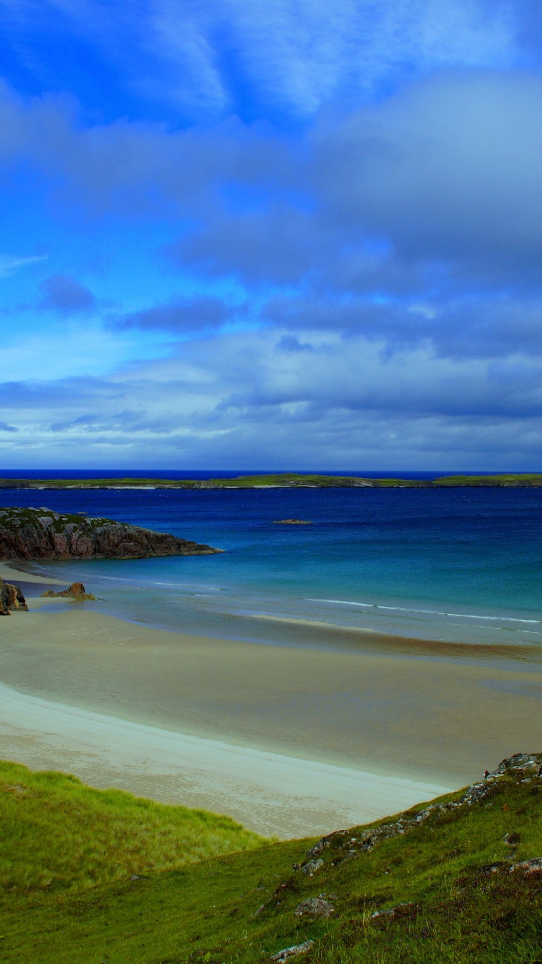 Downaload Sea, beach, blue sea, landscape, Scotland