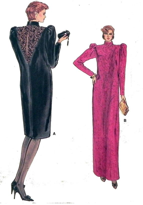 1980s Pullover dress pattern Vogue 8850 by retroactivefuture ...