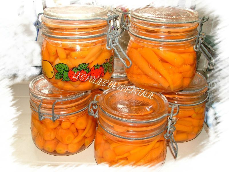 carottes en conserves les folies de christalie ou. Black Bedroom Furniture Sets. Home Design Ideas