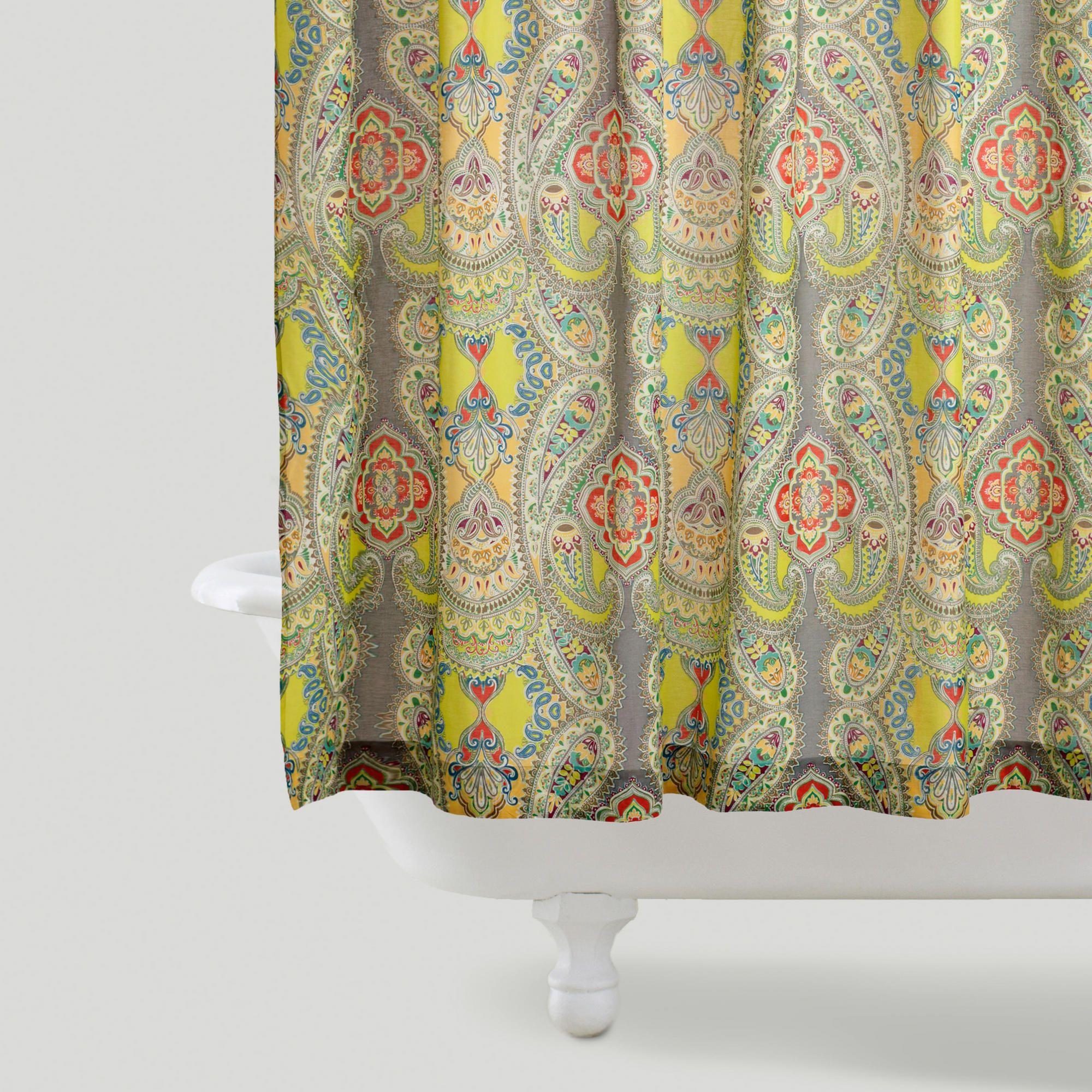 Venice shower curtain world market bathroom pinterest grey