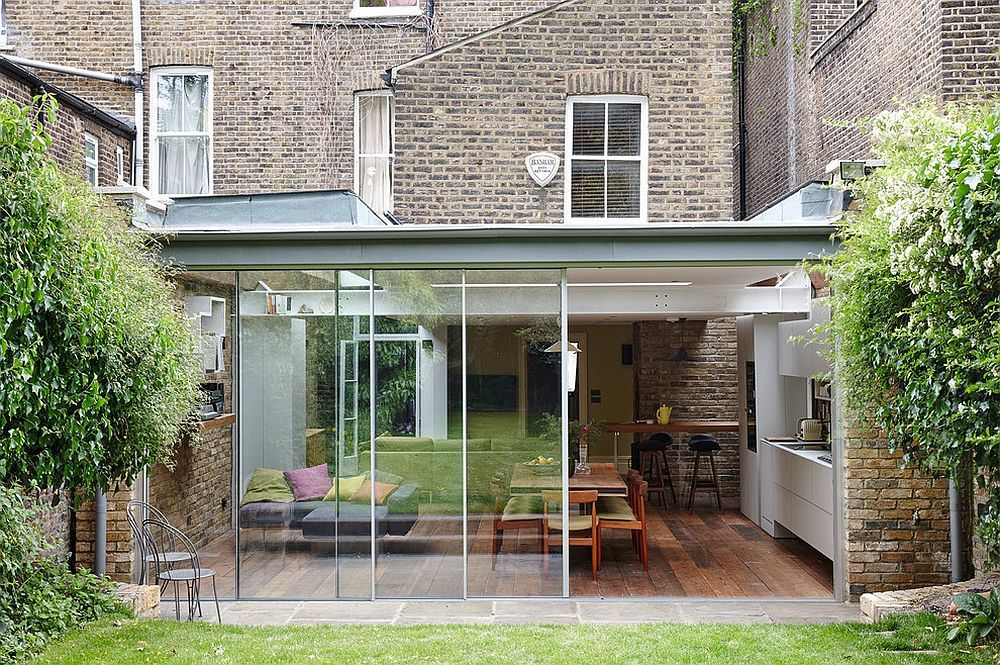 Semi Detached London Terrace House Gets A Bright Modern Extension House Extension Design Terrace House Modern Extension
