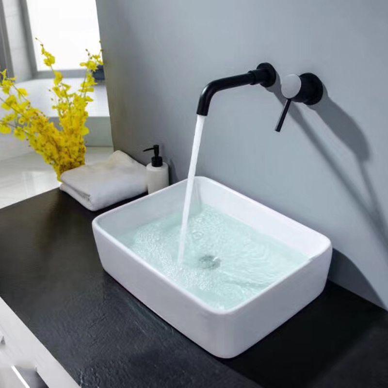 Aliexpress.com : Buy Matte Black Brass Wall Mounted Basin Faucet ...