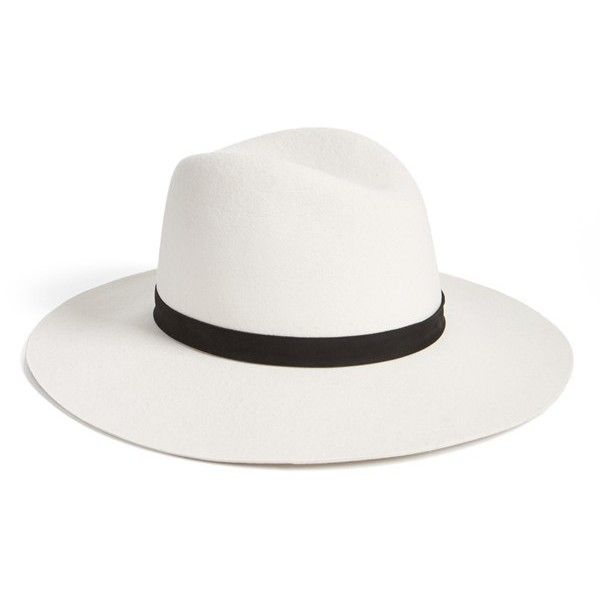 Women s Janessa Leone  Camellia  Wide Brim Wool Fedora (11.575 RUB) ❤ liked  on Polyvore featuring accessories 1572280a11d