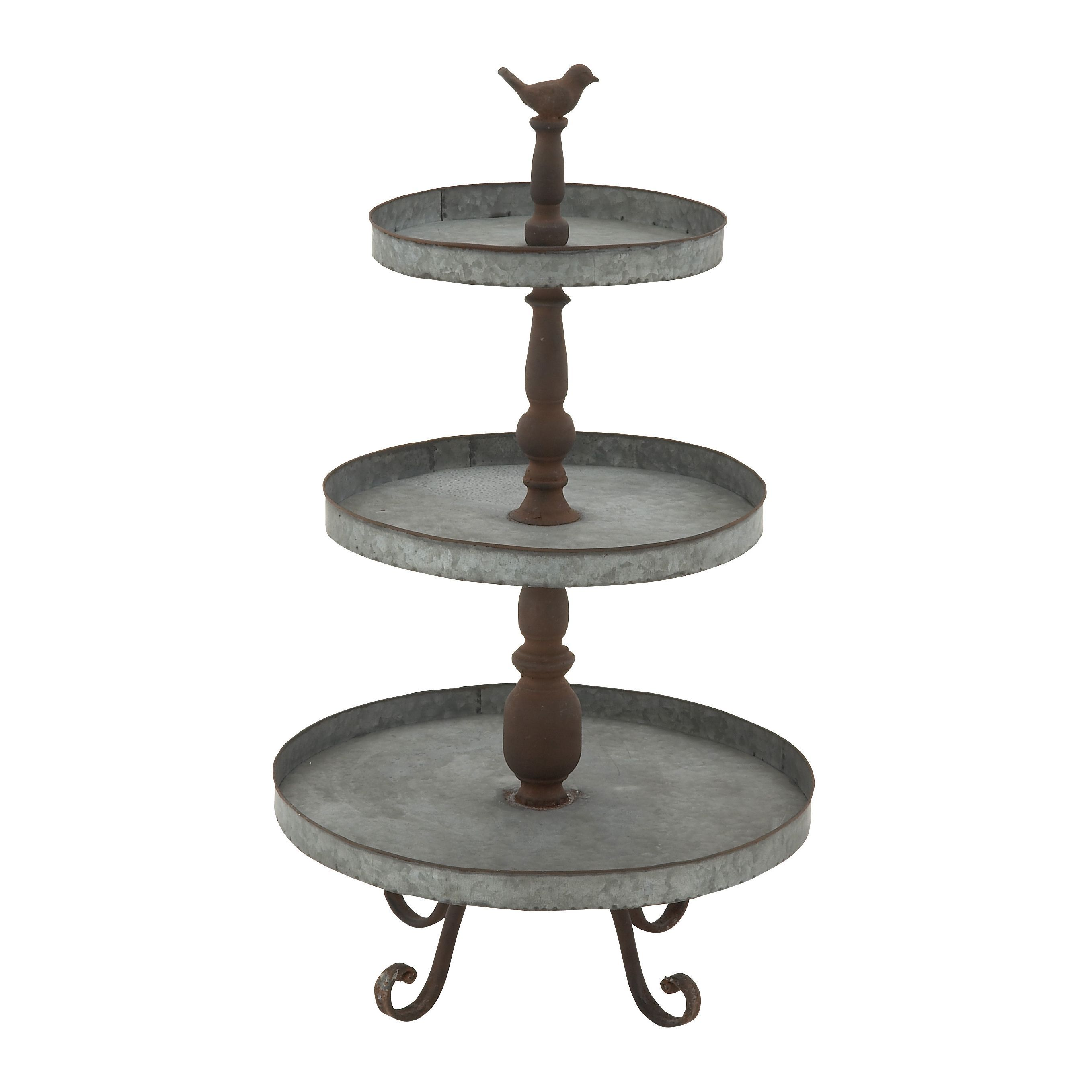 Classic 3 Tier Metal Tray Stand Tiered Stand Tiered Cakes Tray Decor