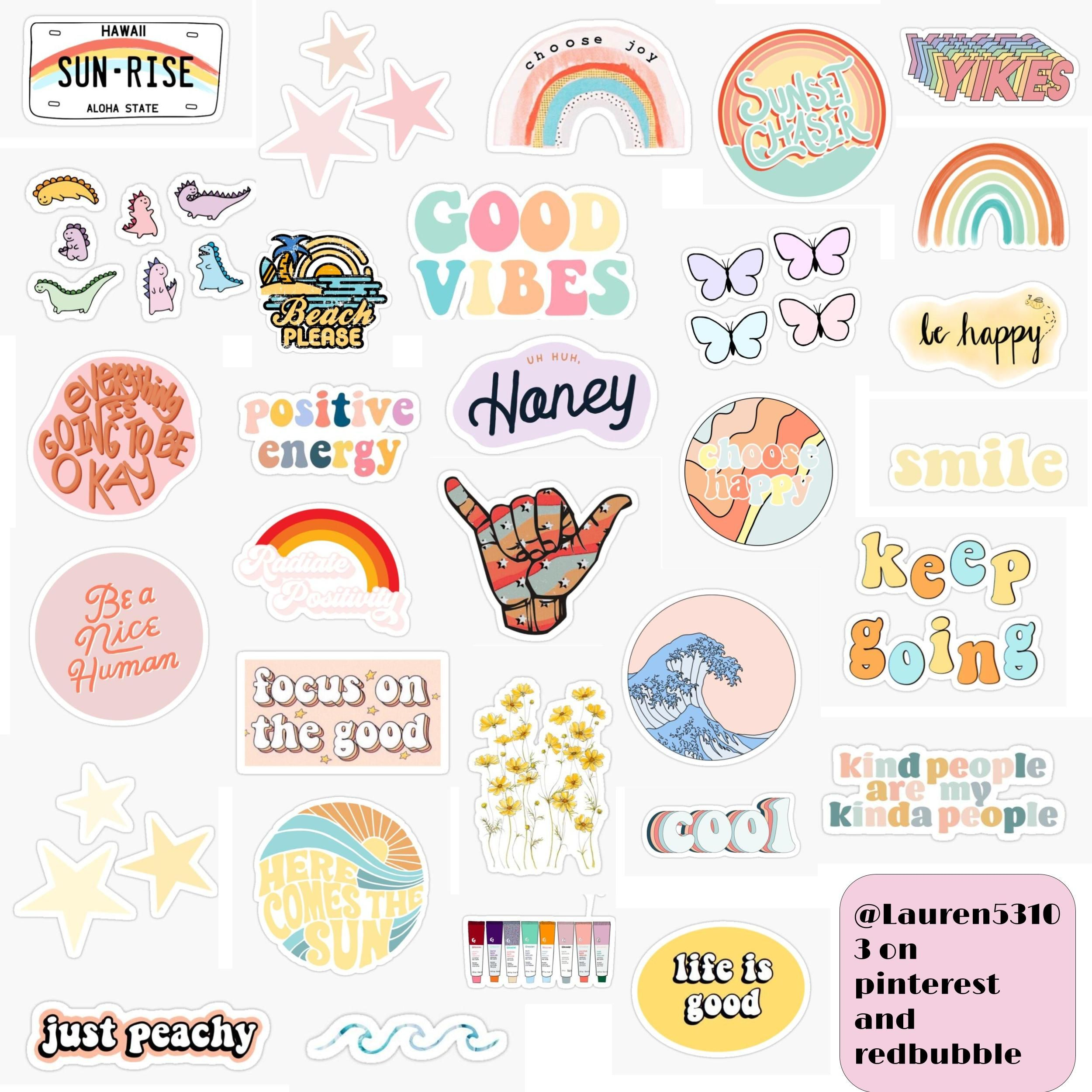 'Cute Colorful Sticker Pack ' Sticker by Lauren53103 in ...
