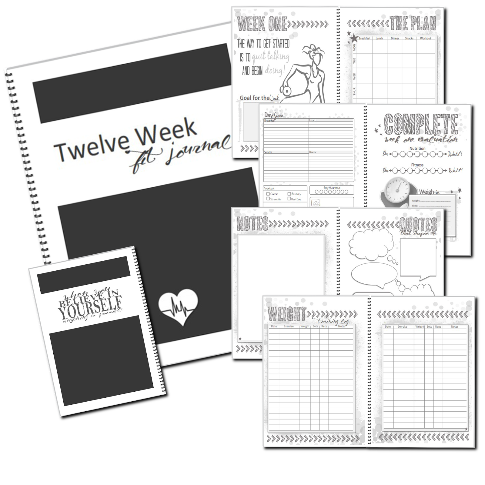 Success Journal 12 Week Weight Loss Workbook To Insanity Amp Back