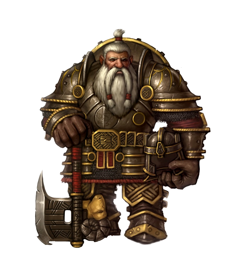 Dwarf Male Axe and Shield Fighter - Pathfinder PFRPG DND D ...