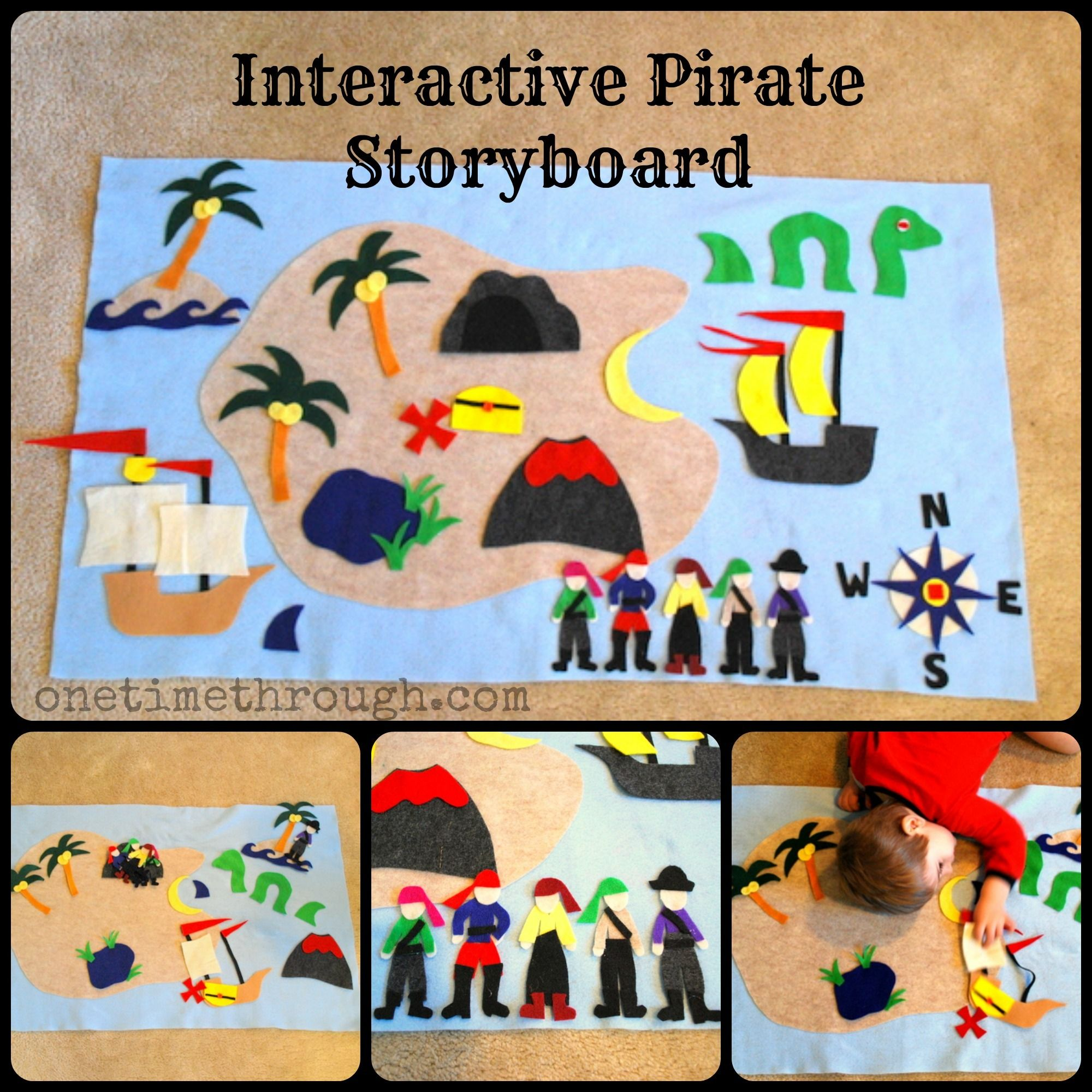 Interactive Felt Pirate Storyboard