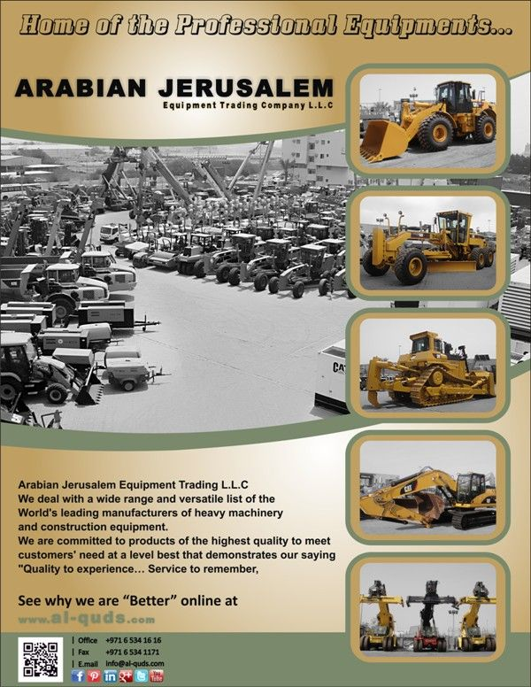 Good Morning everyone!  View a complete range of New, Used & Reconditioned Heavy Equipment of popular brands available @ a very affordable prices, Visit our website at: http://www.al-quds.com/ Contact us: +971 6 5341616 Email: info@al-quds.com  #Heavyequipment #Usedheavyequipment #constructionmachinery #Ajc