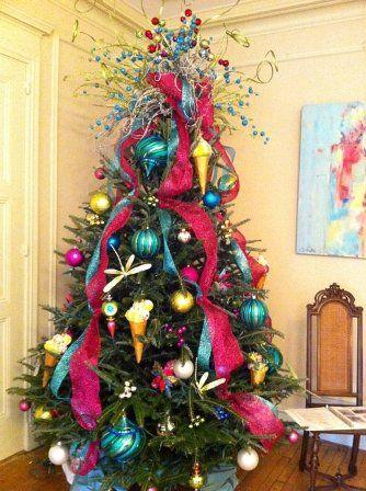 Non - traditional colors Christmas tree - Non - Traditional Colors Christmas Tree Christmas Trees