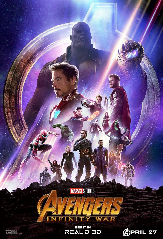 Avengers Infinity War Real 3d Marvel Plakat Marvel