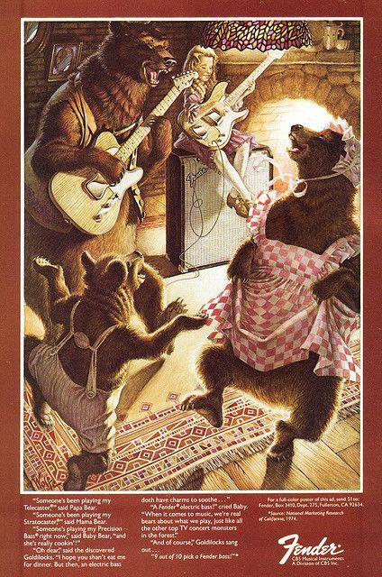 Fender Guitar Ad - (1975)