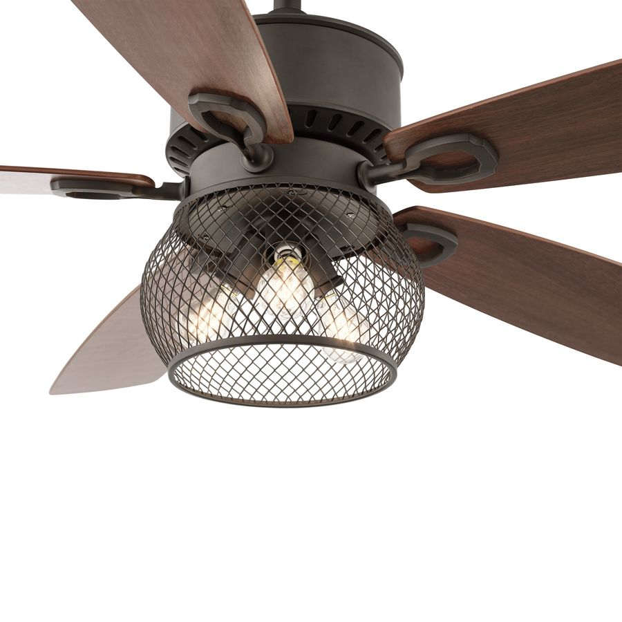 kichler clermont 52 in satin natural bronze downrod mount indoor ceiling fan with light kit and remote 229 [ 900 x 900 Pixel ]