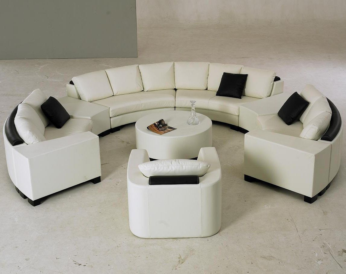 Superb Modern White Circle Sectional Living Room Set Round Sofa Uwap Interior Chair Design Uwaporg