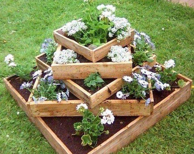 Hexagon planter,outdoor planter,indoor planter,rustic planter,vertical planter,wooden planter,garden planter,wall planter,flower bed,trough