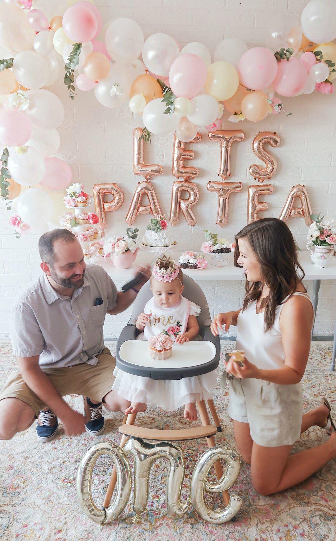 First Birthday Tea Party Lets Partea Birthday Decor Girl