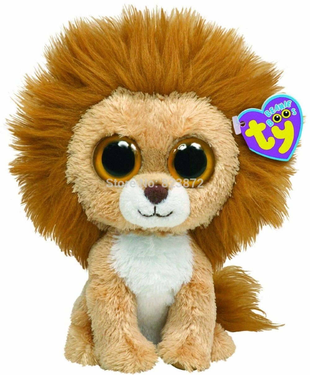 TY Plush Animals Beanie Boos King the Lion Plush Toys 6   15cm TY Big Eyes  Soft Toys Brinquedos Kids Toys for Children Gifts 9f3e15768d2a