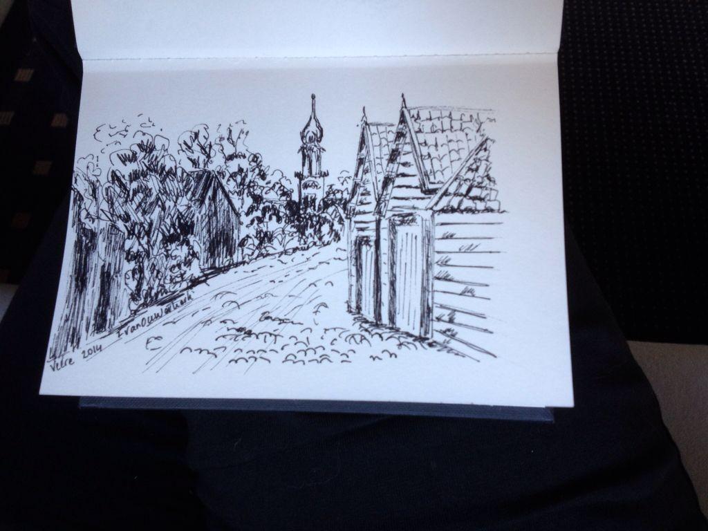 Street view Veere (stabilo pen)