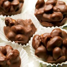 Double Chocolate Nut Clusters - peanuts, almonds