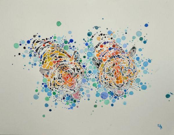ana enshina est une artiste de londres qui ralise des dessins danimaux avec des