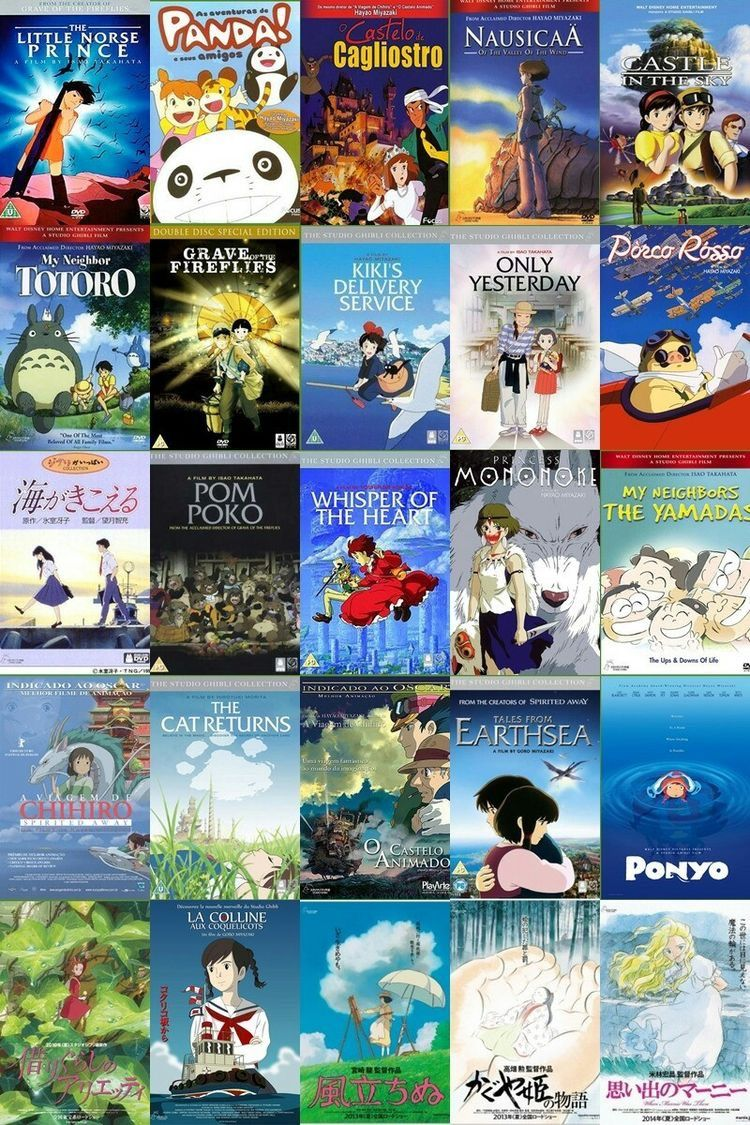 lilycfthevalley Anime films, Studio ghibli movies