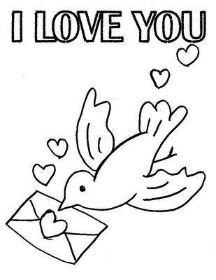 I Love You Printable Kids Coloring Pages Valentine
