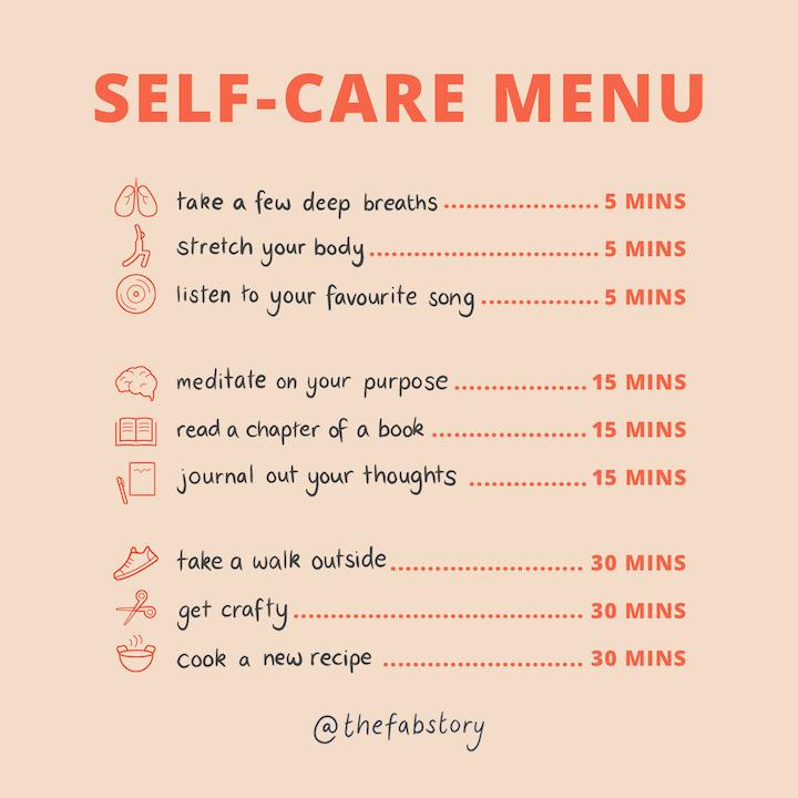 Self-Care Menu – Fabulous Magazine