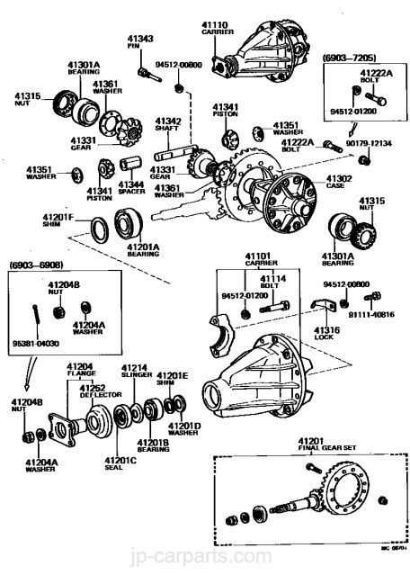 cambiar cojinete rueda eje trasero Toyota modelo bj42 año