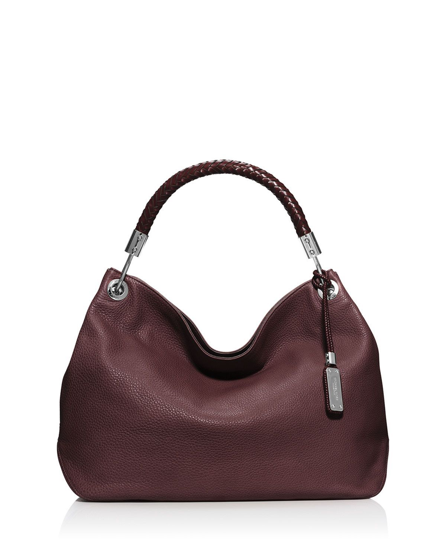 c1b411fa3fdaf5 Michael Kors Skorpios Large Grained Shoulder Bag, Bordeaux | Bags ...