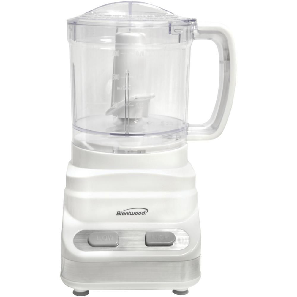 Brentwood appliances 3cup 2speed white food processor