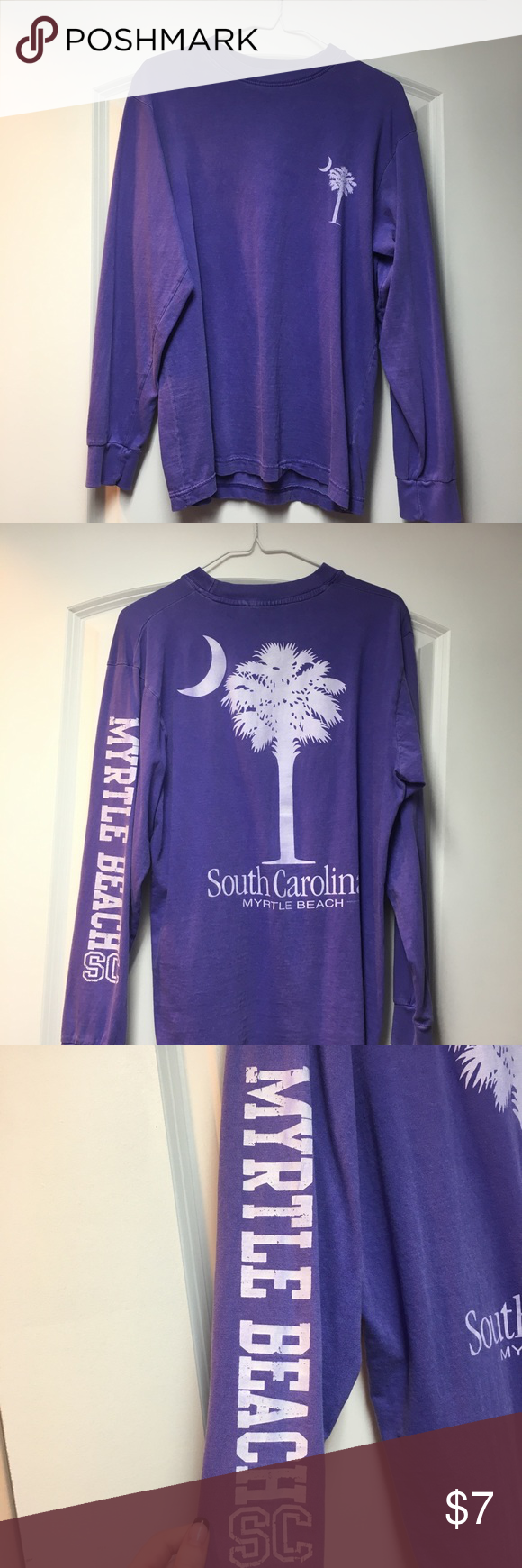 South Carolina Myrtle Beach Shirt Beach Shirts Myrtle Beach South Carolina Long Sleeve Tshirt Men