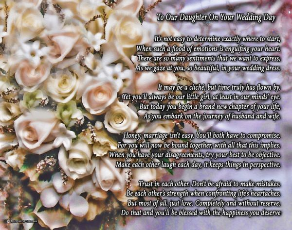 Gifts For Your Daughter On Her Wedding Day: Poems Mother To Daughter On Her Wedding Day My Ashley A