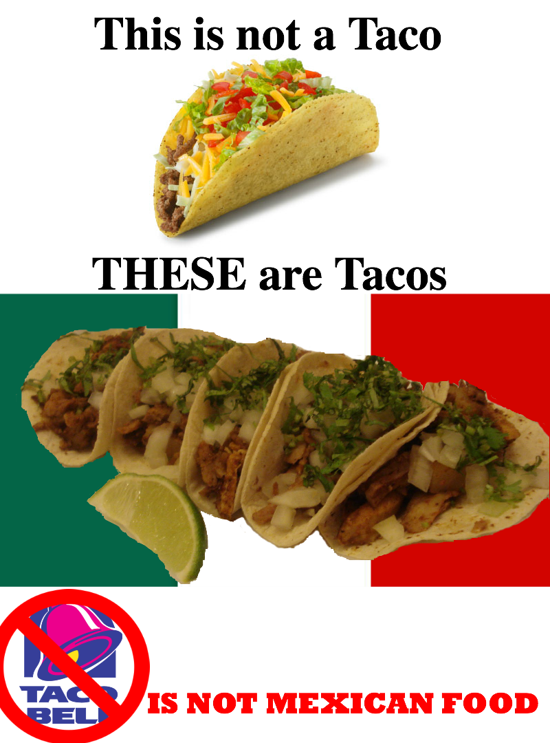 Taco Bell in Mexico Mexican food recipes, Mexican